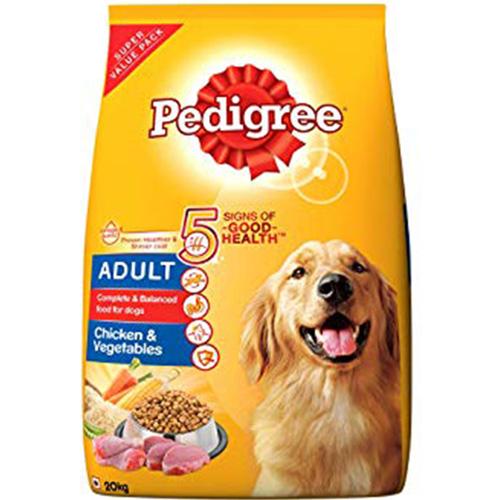 Pedigree Adult Dry Dog Food Chicken & Vegetables 20KG