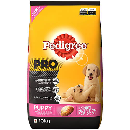Pedigree Professional Puppy Large Breed Premium Dog Food- 10 KG
