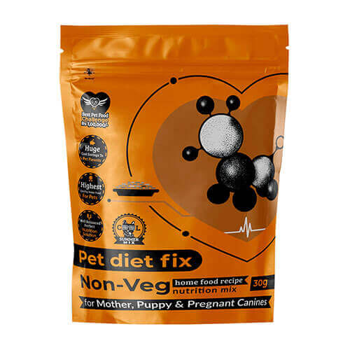 Pet Diet Fix Non Veg home food recipe- Nutrition Mix for Mother Puppy & Pregnant Canines 30gm(Pack of 4)