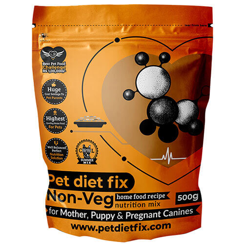 Pet Diet Fix Non Veg home food recipe- Nutrition Mix for Mother,Puppy & Pregnant Canines 500gm