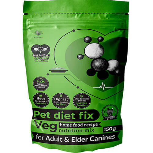 Pet Diet Fix Veg home food recipe- Nutrition Mix for Adult & Elder Canines 150gm