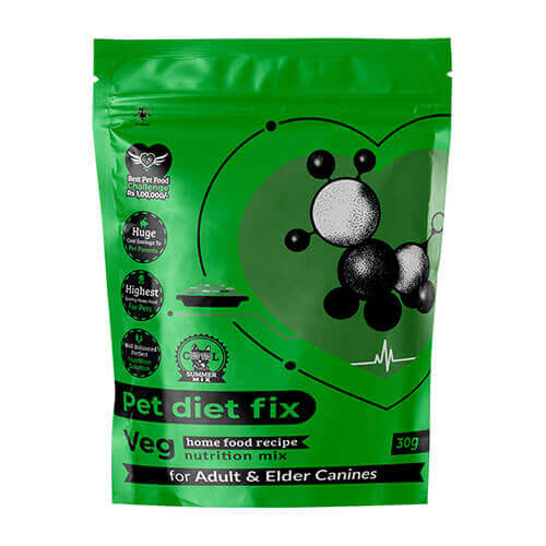 Pet Diet Fix Veg home food recipe- Nutrition Mix for Adult & Elder Canines 30gm(Pack of 4)