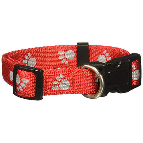 Petmate Reflective Paw Collar Red
