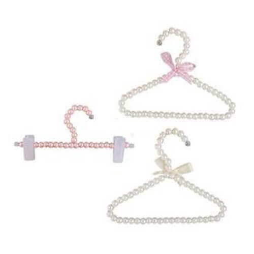 Plastic Pearl Bow Hangers Hook for Cat Apparel