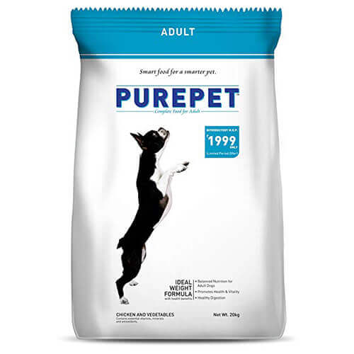 Purepet Adult Chicken And Vegetables 20 KG Dog Food