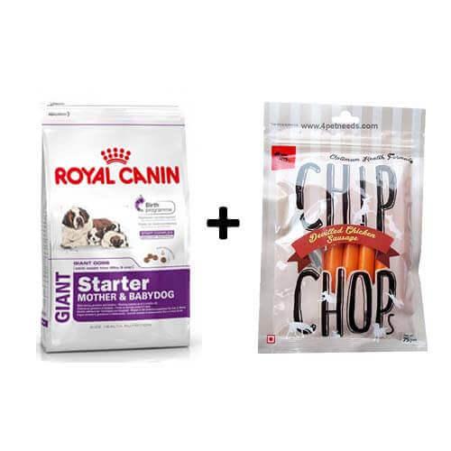ROYAL CANIN GIANT STARTER 4KG+Free Dog Snacks