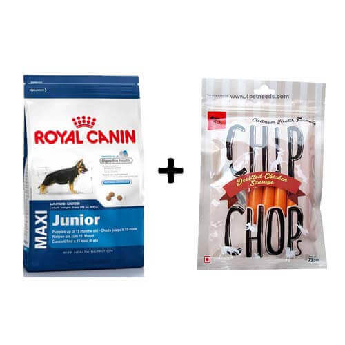 ROYAL CANIN MAXI JUNIOR 4KG+ Free Dog Snacks