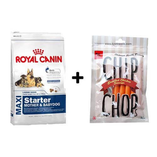 ROYAL CANIN MAXI STARTER 4KG+Free Dog Snacks
