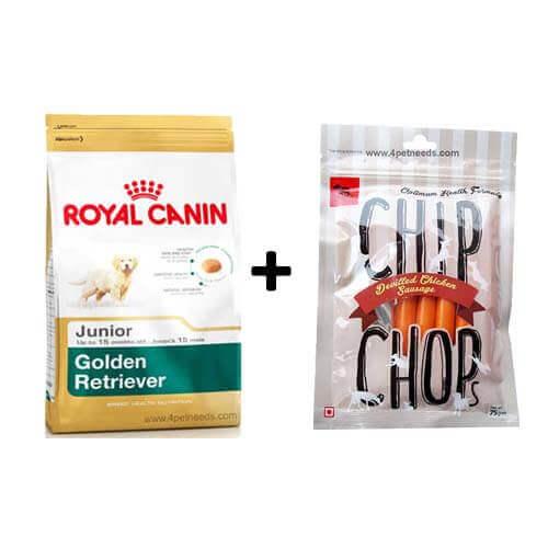 ROYAL CANIN GOLDEN RETRIEVER JUNIOR 3KG+Free Dog Snacks