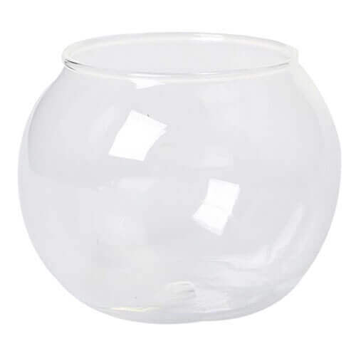 Round Transparent Crystal Glass Bowl