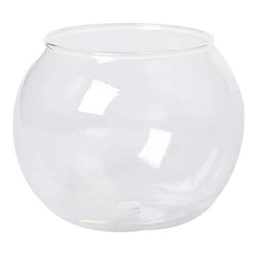 Round Transparent Crystal Glass Bowl