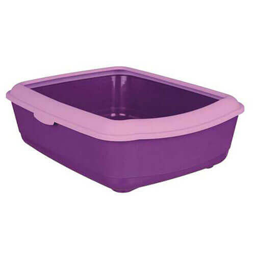 Trixie Cat Litter Tray Oval & Rim Large - PURPLE/LILAC