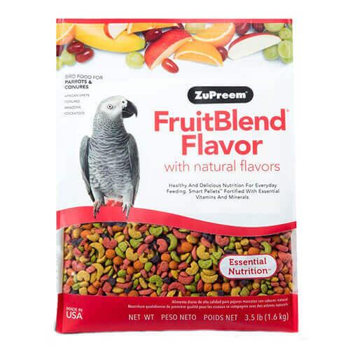 Zupreem FruitBlend Parrot Conure Medium to Large 3.5 LB 1.59Kg