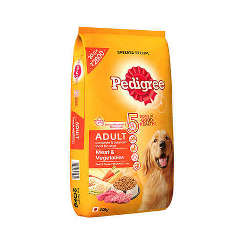Pedigree Adult Dog Food Meat & Vegetables, 20 kg Pack