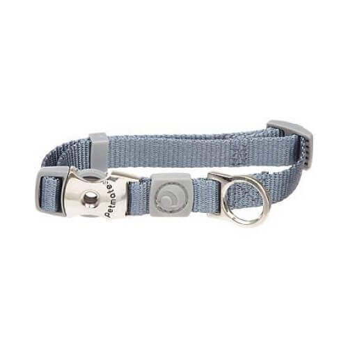 Aspen Pet by Petmate Deluxe Signature Nylon Pewter Dog Collar Large 1