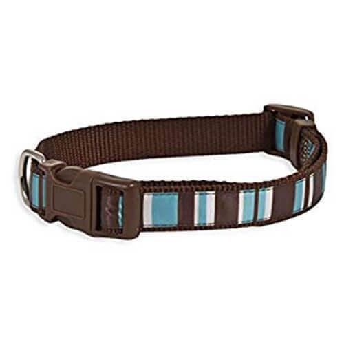 Aspen Pet Delicious Stripes Collar5/8''X10-14''