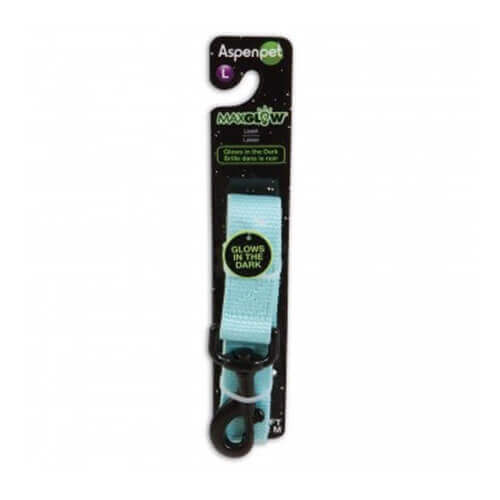 Aspen Pet MaxGlow Collar The Dark Large Leash (Blue)
