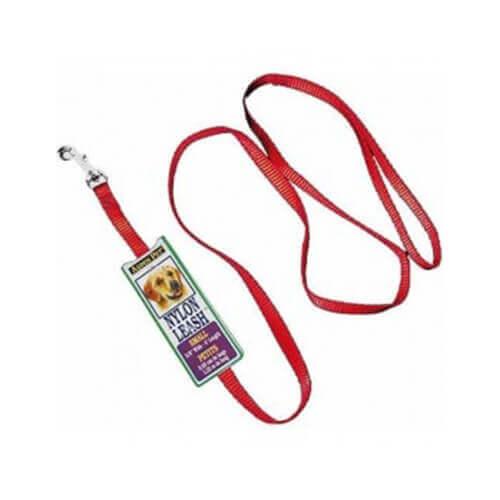 Aspen Pet Nylon leash (Red), 3/8