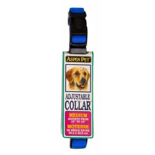 ASPEN PET PRODUCTS 15708 Nylon Adjustable Collar, 10-Inch, Blue