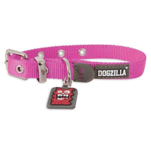 DOGZILLA CUSTOM FIT COLLAR MEDIUM 5/8 X 10-16 Pink