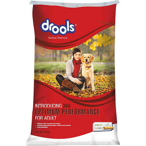 Drools Optimum Performance for Adult Dog Food, 20 kg