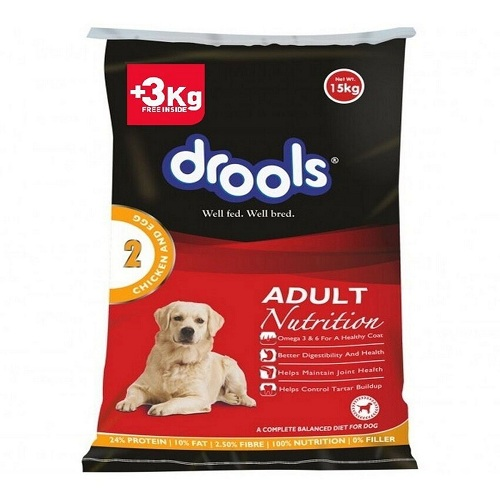 Drools Chicken and Egg Adult Dog Food 15 KG