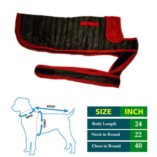 Dog Coat Fish Fin with Red Collar 24 no
