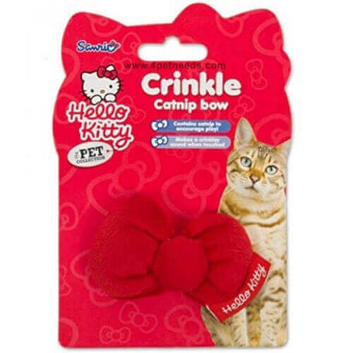 Hello Kitty - Crinkle Catnip Cat Bow
