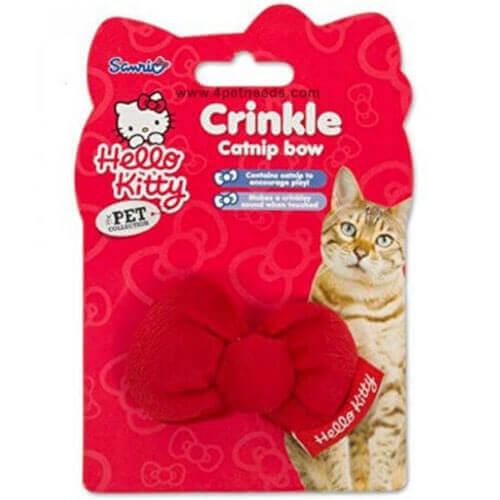 Hello Kitty - Crinkle Catnip Cat Bow