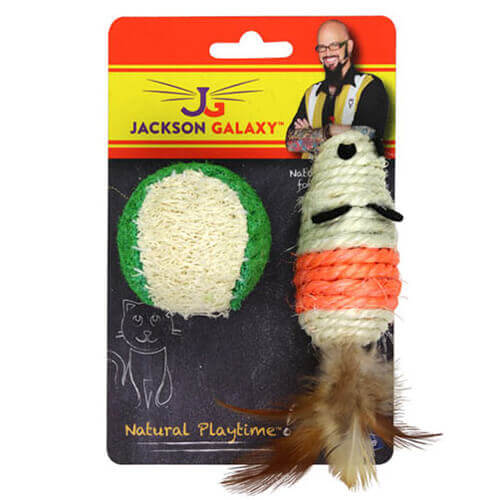 Jackson Galaxy Natural Play Time Rope Mouse & Ball Pack