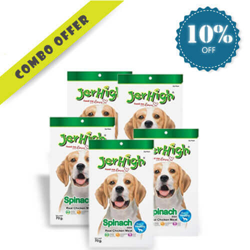 Jerhigh Spinach Stick Dog Treat Combo + Jerhigh 70gm