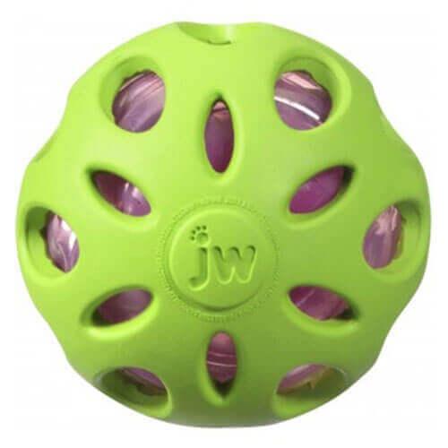 JW Crackle Ball Medium Green