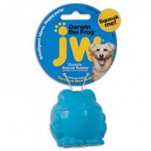 JW Darwin The Frog Dog Toy Small