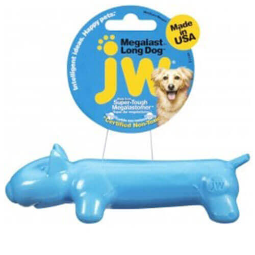 JW Megalast Long Dog Medium Blue Pack
