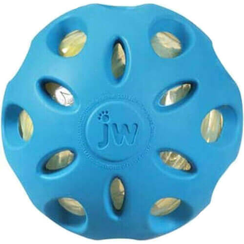 JW Pet Company Crackle Heads Crackle Ball Dog Toy, Large
