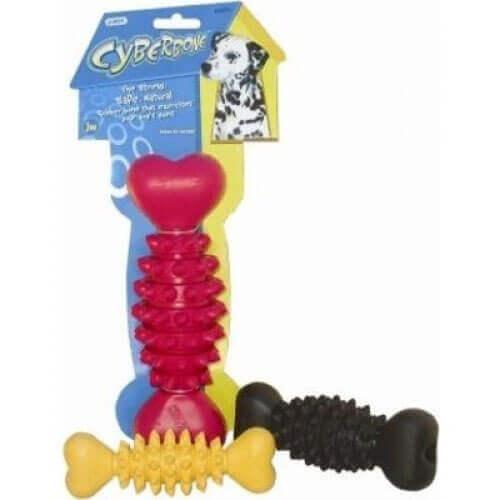 JW Pet Company Cyber Bone Rubber Dog Toy