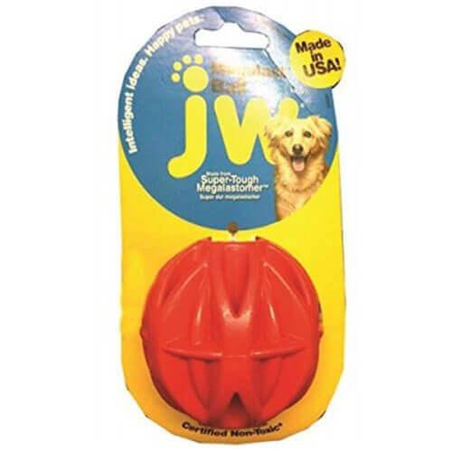 JW Pet Company MegaLast Ball Dog Toy, Medium (Colors Vary)