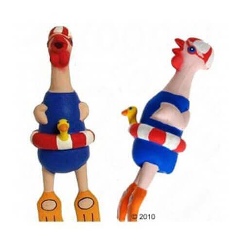 Karlie Crazy Chicken Latex Swimmer 9.5 Inch