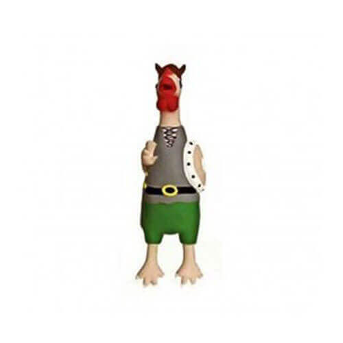 KARLIE CRAZY CHICKEN LATEX VIKING DOG TOY