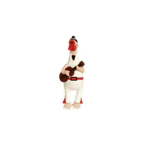 Karlie Toys Crazy Chicken Rock N Roll Dog Toy