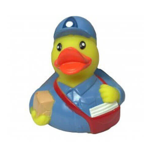 Karlie Vinyl Duck-Postman Dog Toy