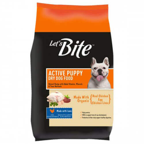 Let's Bite Active Puppy Dry Dog Food 3Kg