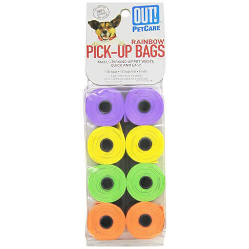 OUT! Blue Dog Waste Pick-Up Bags (120 Bags)