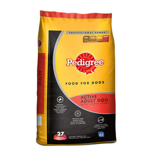 Pedigree Professional Active Adult Premium Dog Food, 10 KG Pack