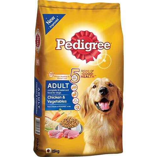 Pedigree Adult Chicken and Vegetable, 15 kg