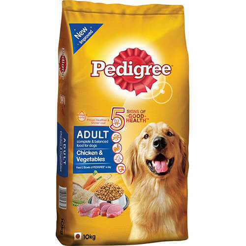 pedigree chicken and vegetables 10kg