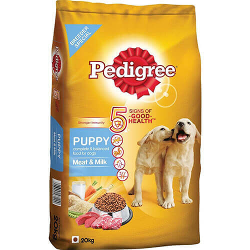 Pedigree Puppy Meat and Milk, 20 kg dog food