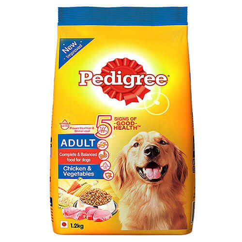 Pedigree Chicken & Vegetables,Food For Adult Dogs , 1.2Kg