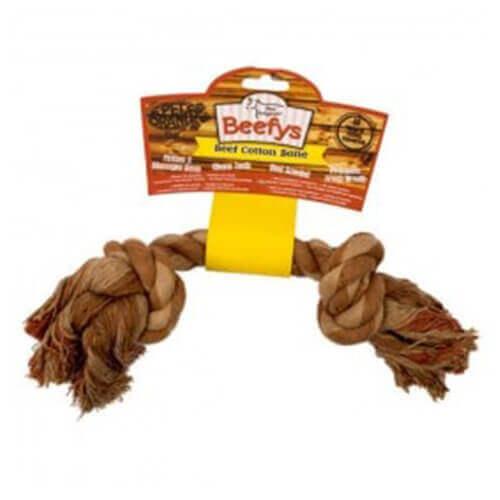 Pet Brands Floss Cotton Bone Beef