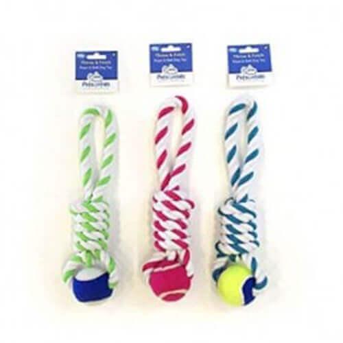Pet Brands Petsentials Tennis Ball Tug Dog Toy